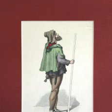 Arte: RETRATO DE UN HOMBRE DEL SIGLO XV, PINTADO A MANO, DEUTSCHER BAUMEISTER. Lote 49871861