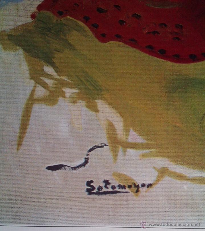 Arte: PRECIOSA ANTIGUA LAMINA O SERIGRAFIA DE SOTOMAYOR COMIDA DE BODA EN BERGANTIÑOS (GALICIA) 1916 - Foto 3 - 41533759