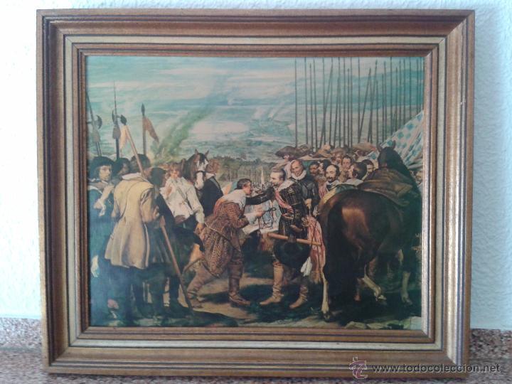 LAMINAS ENMARCADAS PINTORES VELAZQUEZ, GOYA, MURILLO, GRECO - 4 CUADROS (Arte - Láminas Antiguas)