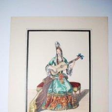 Arte: DAME DE QUALITÉ JOÜANT DE LA GUITARRE. TOCANDO LA GUITARRA. MÚSICA.. Lote 50349368