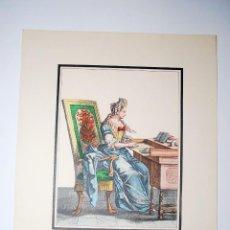 Arte: AMINTE EN SON CABINET. RECUEIL DES MODES DE LA COUR DE FRANCE. NICOLAS BONNART PINTÓ.. Lote 50418573