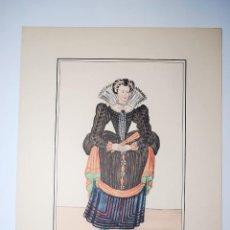 Arte: BOURGEOISE DE SAUMUR. 1583. RECUEIL DES MODES DE LA COUR DE FRANCE. NICOLAS BONNART PINTÓ.. Lote 50418619