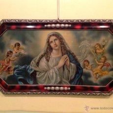 Arte: ANTIGUO MARCO CON VIRGEN MEDIDAS ANCHO 89CM X ALTO 26,5CM. Lote 50459186