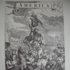 Arte: ALEGORIA DEC AMERICA JACOB VAN MEURS 19X28. Lote 50647136