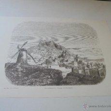 Arte: LÁMINA (IMPRESA) DE GRABADO- VUE D´ALICANTE-DESSIN DE ROUARGUE-SUCH SERRA-AÑO DEL CENTENARIO. Lote 50790169