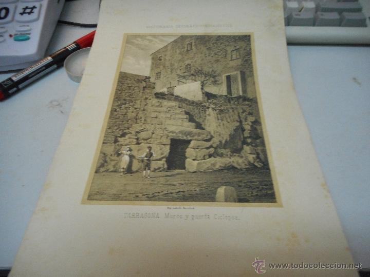 LAMINA TARRAGONA MUROS I PUERTA CICLOPEA (Arte - Láminas Antiguas)