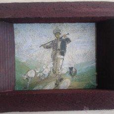 Arte: LAMINA REPRODUCCION OLEO DEL FUNDADOR DE BUCAREST CIOBANUL BUCUR - ENMARCADO MADERA Y CRISTAL 16X14. Lote 51126182