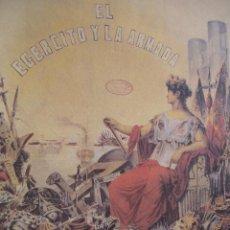 Arte: UNIFORMES MILITARES DE ESPAÑA.ALEGORIA DEL EJERCITO Y LA ARMADA . Lote 51133849