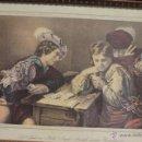 Arte: FRANZ HANFSTAENGL- GEDRUCKT BEI DEM HERAUSGEBER - DIE SPIELER VON MICHEL ANGELO AMÉRIGHI,. Lote 51412914