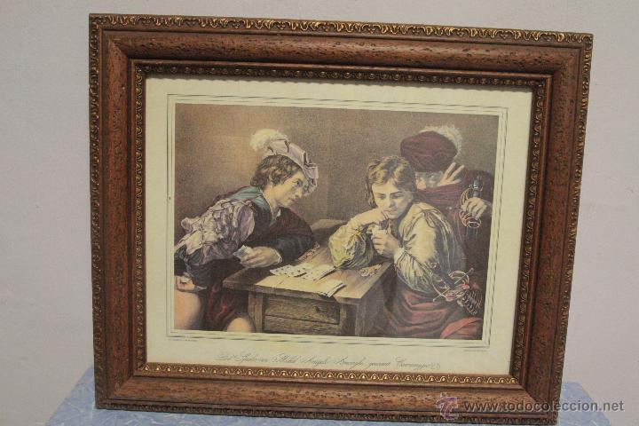 Arte: Franz Hanfstaengl- GEDRUCKT BEI DEM HERAUSGEBER - Die Spieler von Michel Angelo Amérighi, - Foto 2 - 51412914