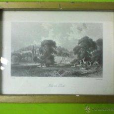 Arte: WONERSH PARK LAMINA ENMARCADA CON CRISTAL T. ALLON. Lote 51580348