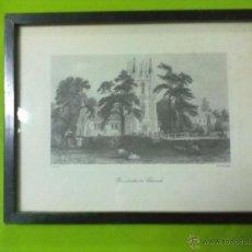 Arte: WINDLESHAM CHURCH LAMINA ENMARCADA CON CRISTAL E. RADALYFFE. Lote 51580413