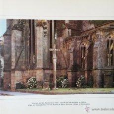 Arte: LAMINA DE 43 X 34 CMS. CRUCEIRO DE SAN BARTOLOME O VELLO, SIGLO XV. Lote 53148103