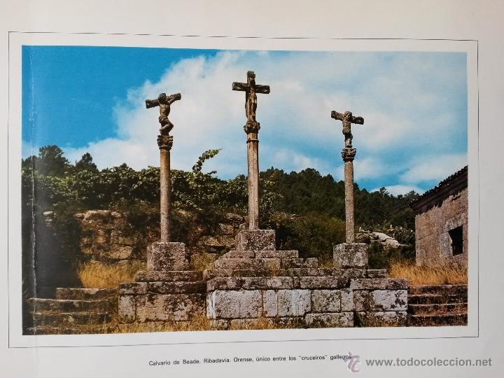 LAMINA DE 43 X 34 CMS. CRUCEIRO , CALVARIO DE BEADE,RIBADAVIA ,ORENSE (Arte - Láminas Antiguas)