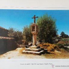 Arte: LAMINA DE 43 X 34 CMS. CRUCEIRO DE CAPELIÑA SIGLO XVII LAXE,PEQUENA,TARAGOÑA,RIANXO. Lote 53148208