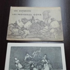 Arte: GRAN COLECCIÓN DE 22 LAMINAS EN CARPETA - LOS DISPARATES O LOS PROVERBIOS - GOYA - 1864 - MADRID -. Lote 181620581