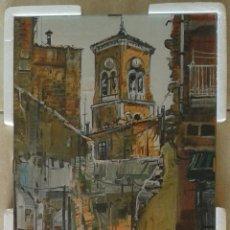 Arte: ENRIC BESORA BOVET - LAMINA ENMARCADA CRISTAL PINZADO 30 X 20. Lote 53711496
