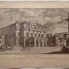 Arte: LAMINA ANTIGUA. MUSEO DE LA SCALA. MILAN. ENVIO INCLUIDO EN EL PRECIO. Lote 54030917