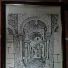 Arte: TRES LAMINAS ENMARCADAS ANTONIO PEDRERO.ZAMORA.34 X 26.. Lote 54375173