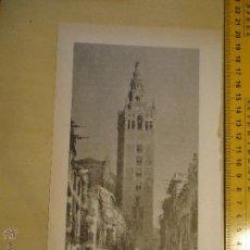 Arte: COLECCION SEVILLA CALLES Y RINCONES . LAMINA CON IMAGEN DE SEVILLA IDEAL PARA ENMARCAR . Lote 54834029