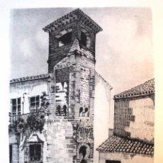 Arte: ANTIGUA LÁMINA *MINARETE ÁRABE*, DE JOSÉ MARÍA RODRIGO. AÑO 1983.. Lote 54987339