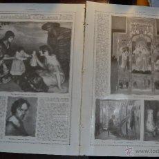Arte: FOTOS Y CRONICA DE LA VIDA ARTISTICA EXPOSICIONES CATALANAS 2 HOJAS LA ESFERA 1916. CATALUÑA. Lote 55012278