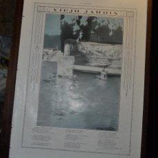 Arte: VIEJO JARDIN POEMA DE F MARTINEZ CORBALAN CON ILUSTRACION DE MAXIMO RAMOS. LA ESFERA 1916. Lote 55013038