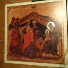 Arte: LAMINA RELIGIOSA RELIEVES EN ORO CON PORTAL DE BELEN VIRGEN NIÑO JESUS REYES MAGOS . Lote 55223408