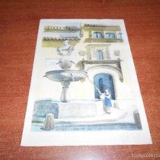 Arte: ANTIGUA LÁMINA, CÓRDOBA, FUENTE DEL POTRO1957. Lote 55388639