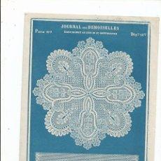 Arte: 1899 - BRODERIE - RARO MODELO DE BORDADO - DEL JOURNAL DES DEMOISELLES - 26X18. Lote 56129840
