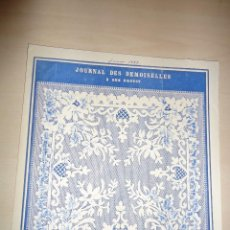 Arte: 1883 - BRODERIE - RARO GRABADO - MODELO DE BORDADO - DEL JOURNAL DES DEMOISELLES - 22 X 20 . Lote 56369082