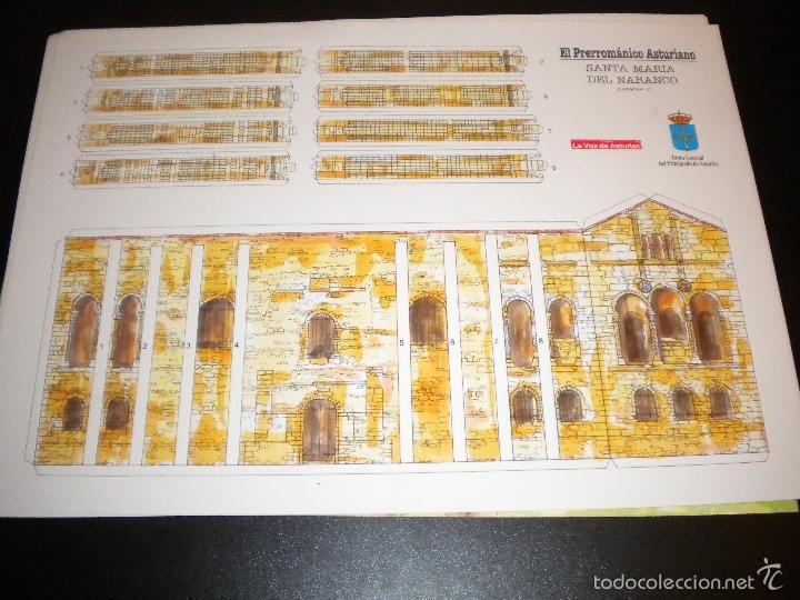 4 LAMINAS RECORTABLES DE SANTA MARIA DEL NARANCO / LA VOZ DE ASTURIAS (Arte - Láminas Antiguas)
