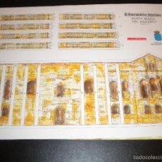 Arte: 4 LAMINAS RECORTABLES DE SANTA MARIA DEL NARANCO / LA VOZ DE ASTURIAS. Lote 56394411