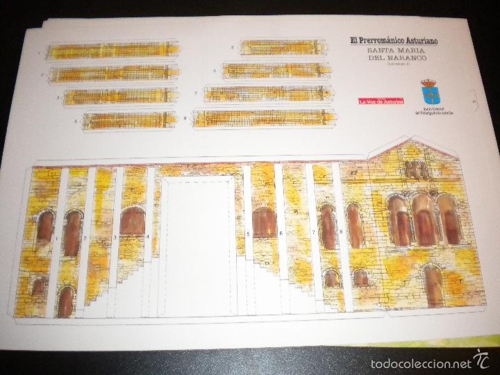 Arte: 4 laminas recortables de santa maria del naranco / la voz de asturias - Foto 2 - 56394411