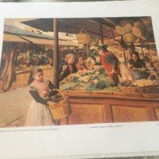 Arte: 'EL MERCADO DE LA ENCARNACIÓN EN SEVILLA', DE RICARDO LÓPEZ CABRERA. LÁMINA ENMARCABLE. 34 X 42 CM.. Lote 56621996