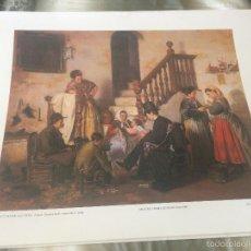 Arte: 'LA LECTURA DE LA CARTA', DE MANUEL GÓMEZ MORENO. LÁMINA ENMARCABLE. 34 X 42 CM. AÑOS 90.. Lote 56622031