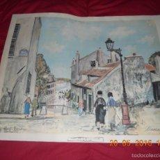 Arte: ANTIGUA LAMINA DEL PINTOR MAURICE UTRILLO MEDIDAS 59/46 . Lote 56968515
