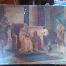 Arte: LÁMINA ANTIGUA DE LA CORTE DEL FARAÓN. Lote 56991618