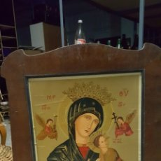 Arte: ANTIGUA LAMINA RELIGIOSA ENMARCADA 62X79CM. Lote 56997493