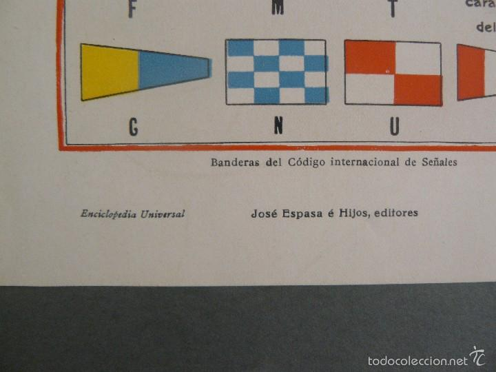 Arte: ANTIGUA LÁMINA - BANDERAS DEL CODIGO INTERNACIONAL DE SEÑALES - ENCICLOPEDIA UNIVERSAL ESPASA 1935 - Foto 3 - 57252348