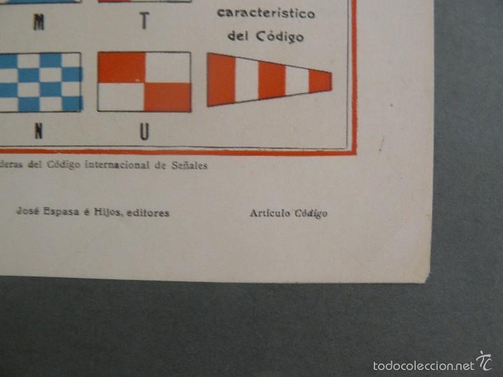 Arte: ANTIGUA LÁMINA - BANDERAS DEL CODIGO INTERNACIONAL DE SEÑALES - ENCICLOPEDIA UNIVERSAL ESPASA 1935 - Foto 4 - 57252348