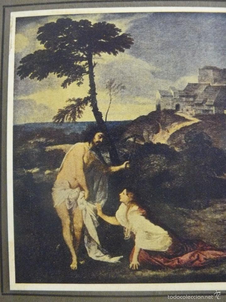 LAMINA - TIZIANO - NOLI ME TANGERE (Arte - Láminas Antiguas)