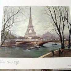 Arte: PARIS - TOUR EIFFEL - GORGES B. - LAMINA - MEDIDAS 44,5 X 36,5. Lote 57473436