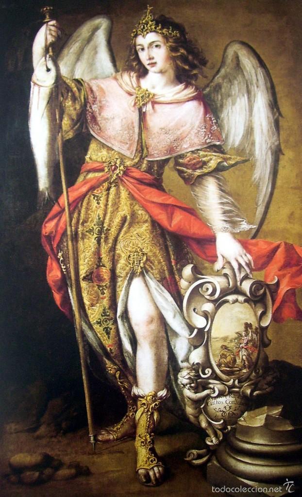 SANCTE RAPHAEL CUSTOS CORDUBENSIS - VALDES LEAL - SIGLO XVII - LAMINA - MEDIDAS 27,5 X 39 (Arte - Láminas Antiguas)