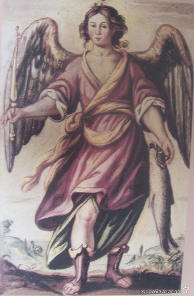 SAN RAFAEL - LIBRO REGLAS HDAD.- ANTONIO DEL CASTILLO - SIGLO XVII - LAMINA - MEDIDAS 27,5 X 39 (Arte - Láminas Antiguas)