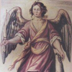 Arte: SAN RAFAEL - LIBRO REGLAS HDAD.- ANTONIO DEL CASTILLO - SIGLO XVII - LAMINA - MEDIDAS 27,5 X 39. Lote 57474813