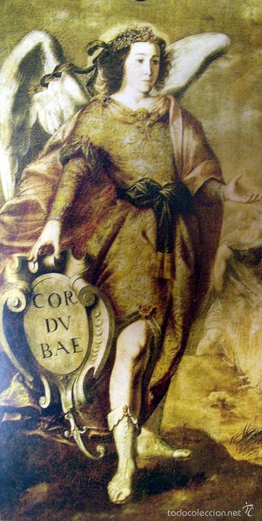 SAN RAFAEL - CORDUBAE - ANTONIO DEL CASTILLO - SIGLO XVII - LAMINA - MEDIDAS 27,5 X 39 (Arte - Láminas Antiguas)