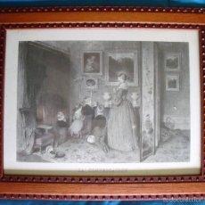 Arte: LÁMINA REPRODUCIÓN LA CONVERSATION ENMARCADA CON CRISTAL. Lote 57495142