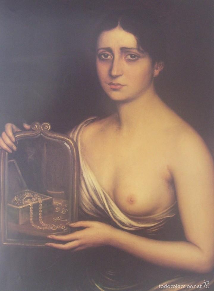 JULIO ROMERO DE TORRES - CONTRARIEDAD - LAMINA - MEDIDAS 27,5 X 40 (Arte - Láminas Antiguas)