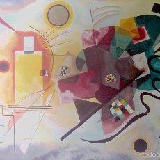 Arte: KANDINSKY - AMARILLO,ROJO,AZUL (1925) - LAMINA - MEDIDAS 34 X 43. Lote 57572779